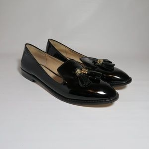 Louise et Cie Patent Leather Tassel Loafers